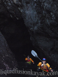 Barb and Jack negotiate a sea cave tunnel.