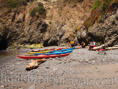 Lunch at a favorite beach (only accessible by kayak).