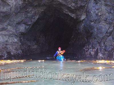 John in Mendo sea cave wonderland.