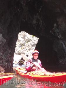 Jane through a tunnel.