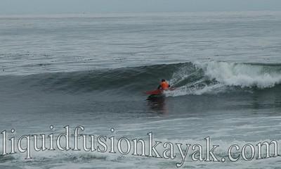 Jeff competes in the 2008 Santa Cruz Kayak Surf Festival