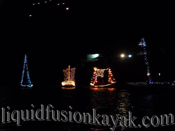 Noyo Harbor's Lighted Boat Parade 2012