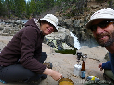 Lunch at Lower McCloud Falls