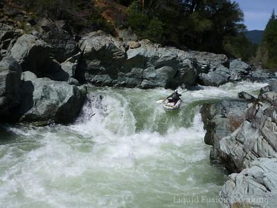 Will running Mear's Creek Falls.