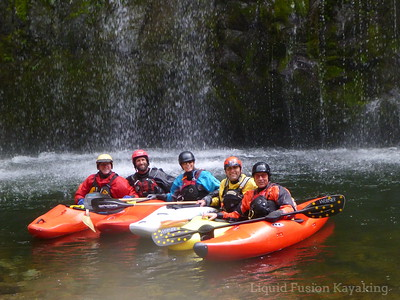 The gang poses for a photo at Mossbrae Falls.