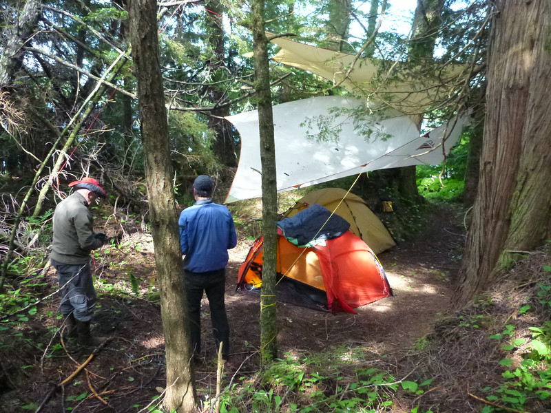 Bill and Dave's campsite.