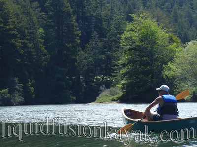 Paddling on Big River in Mendocino, California