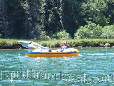 Teeth Richards from KOZT cruises Big River