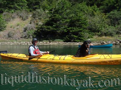 Paddling on Big River in Mendocino, California