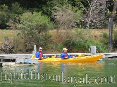 Sea kayaking on the Mendocino Coast.