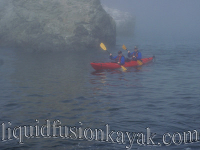 Sea kayaking on the Mendocino Coast of California.