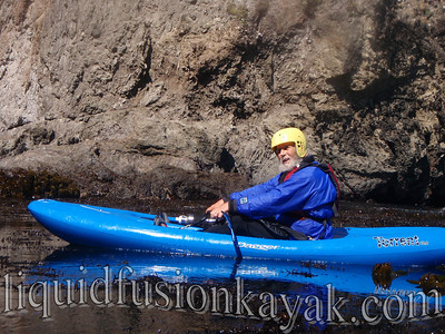 Kayaking in Caspar Bay on the Mendocino Coast.