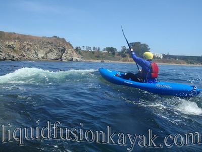 Whitewater Kayaking on Noyo Bay, Fort Bragg, CA