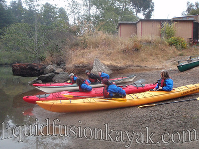 Kayaking and team building on Fort Bragg's Noyo River.
