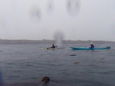 Kayaking in the first rain of the season