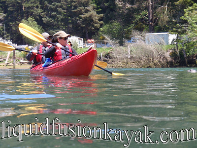 Kayaking on Fort Bragg's Noyo River