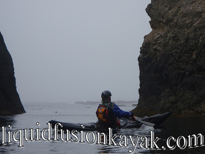Sea kayaking near Mendocino's Point Cabrillo Lighthouse