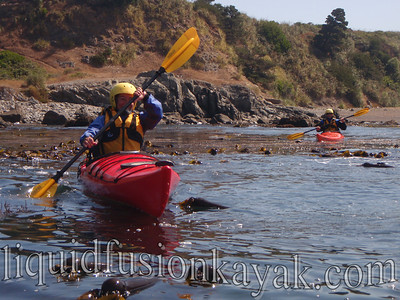 Sea kayak instruction on the Mendocino Coast.