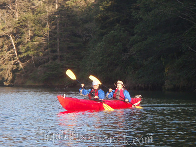 Kayaking and bird watching on Fort Bragg's Noyo River.