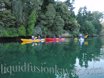 An evening kayak trip on Fort Bragg's Noyo River.