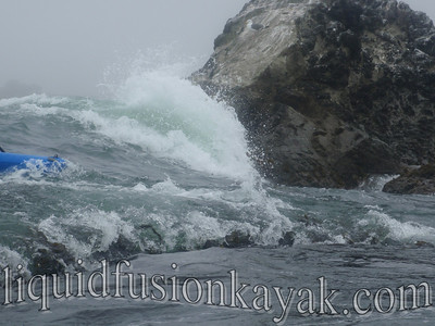 Kayaking in the waves and rock gardens of the Mendocino Coast.