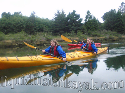 Sea kayaking on Fort Bragg's Noyo River