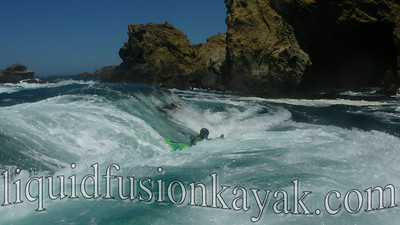 Plunging Deep into frothy whitewater . . .