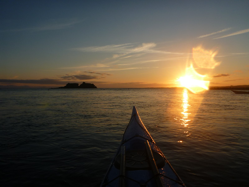 Ruby, Caoimhin , and I left before sunrise on our last day to paddle from Big Bay, through Skiff Passage (had to do it at high tide), and out to Carry Inlet.