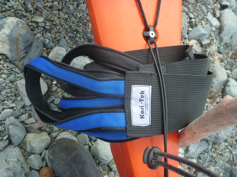 These kayak portage straps that Kay brought from the UK saved our backs.