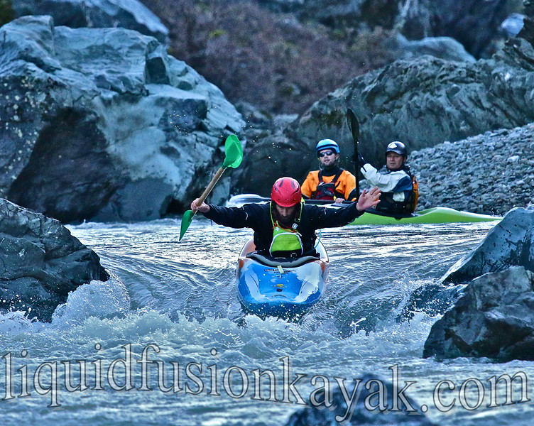 Whitewater kayak class Eel River