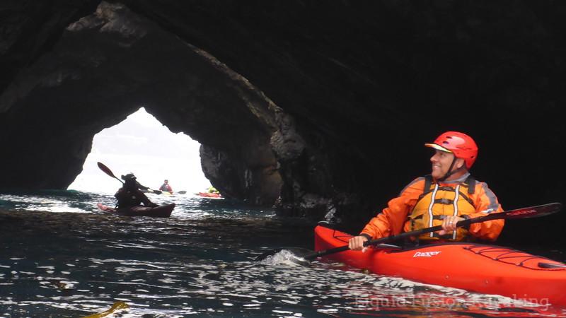 Sea kayaking in Mendocino Sea Caves