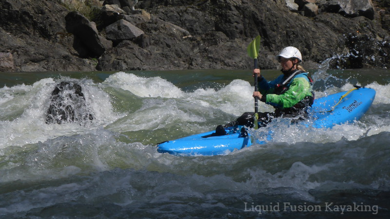 Beginner whitewater kayaking class