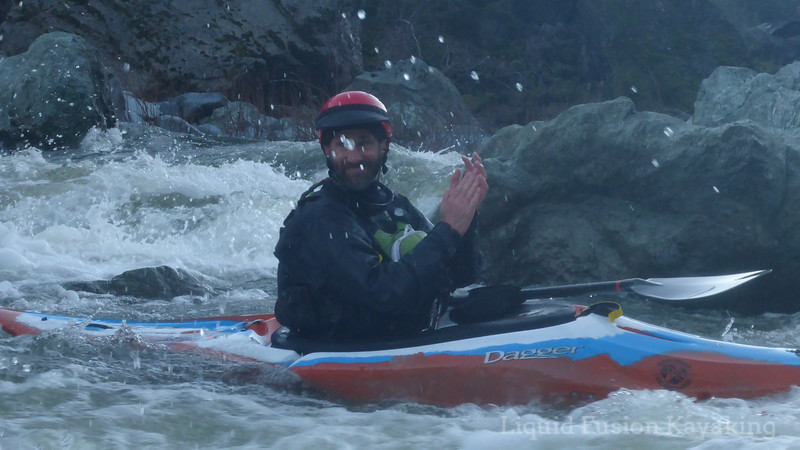 Whitewater kayak instructor Jeff Laxier