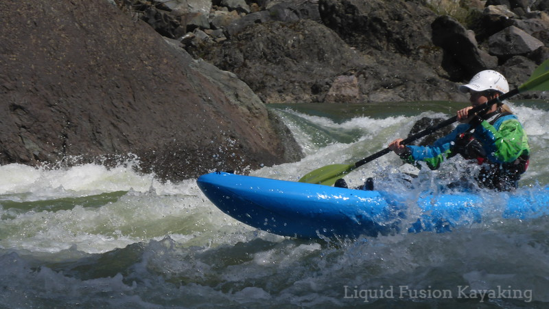 Sit on top whitewater kayaking