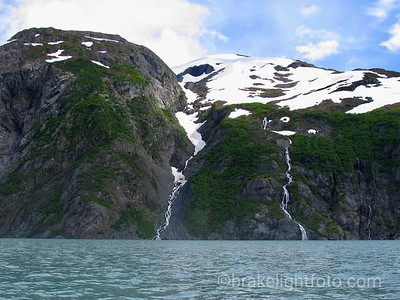Waterfalls on the North Side of Portage Lake