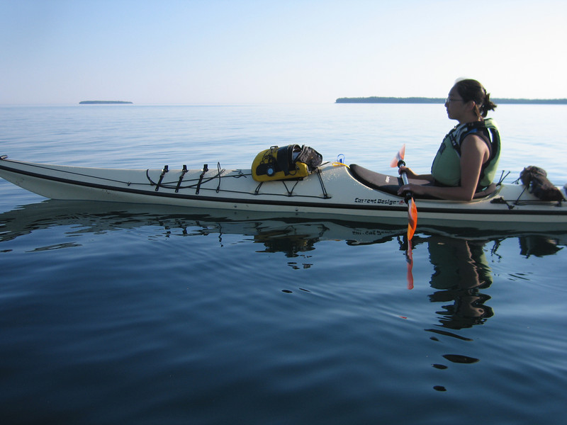 We had glassy water early in the morning as we crossed from Cat to Rocky.