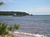 This park ship got stuck in the sand just as we pulled up to our campsite on Stockton at Presque Isle Bay.