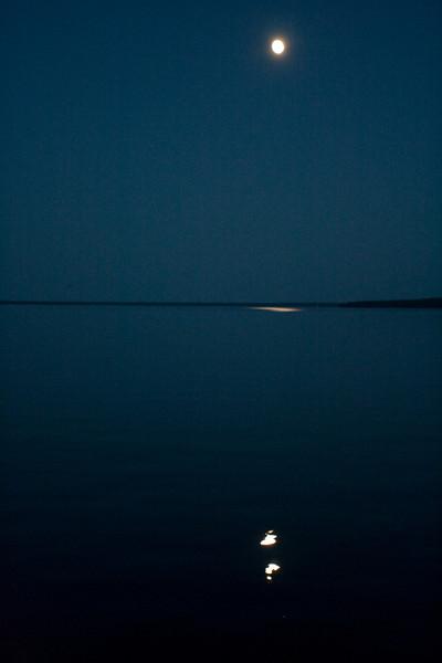 The moon's spotlight.