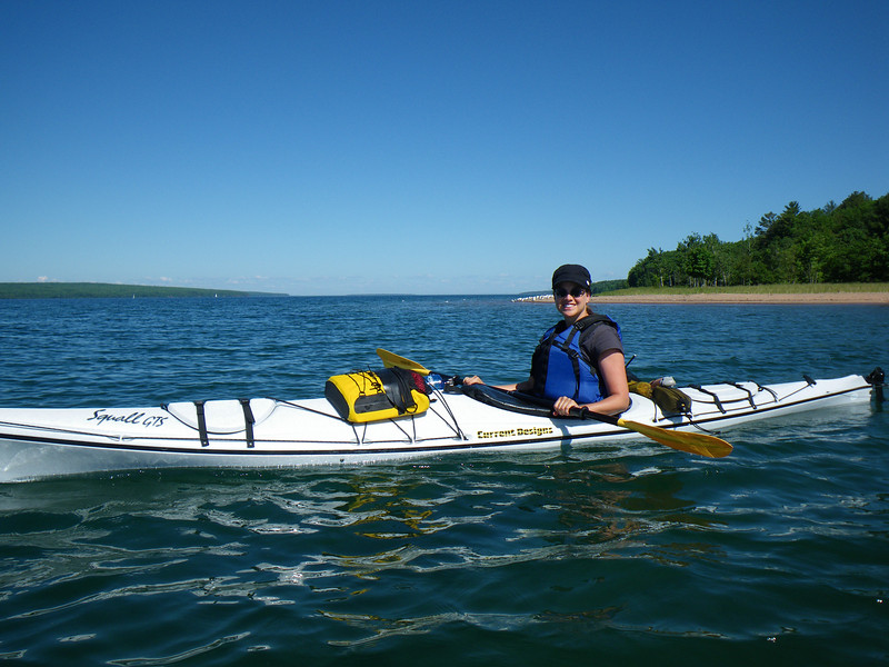 On the paddle to Living Adventure, the Coast Guard was announcing every 20 minutest that there was an overturned kayak in the water off of Bark Point with a possible person in the water.