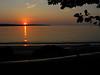 Sun setting over mainland, from Oak Island.