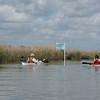 Entering kayak trails