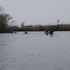 A winter paddle. We picked up an east wind the last few miles.