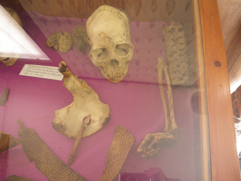 A woman and child killed 2 thousand years ago. There is a spear point embedded in the mother's pelvis and the baby's head was partially crushed.