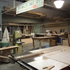 A small section of the massive wood shop at Shop People