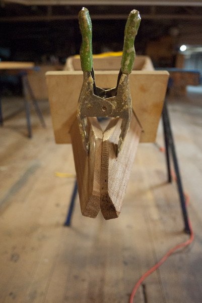Cut and clamped