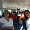 Shuttle crew returning from Bastrop library pick up point