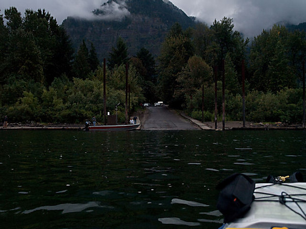 Fishery RV Park boat ramp on the Oregon side of the Columbia