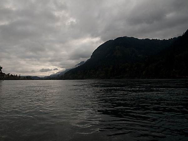 A view down the Columbia River.