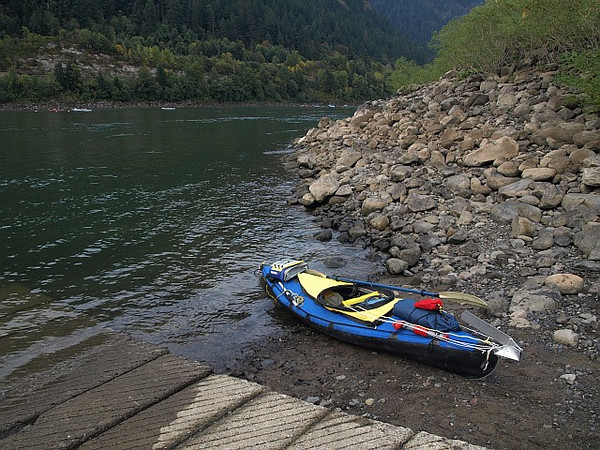 My Folbot Yukon at the Hamilton Island boat ramp just before departing on my 6 day trip down the Columbia River to Astoria.