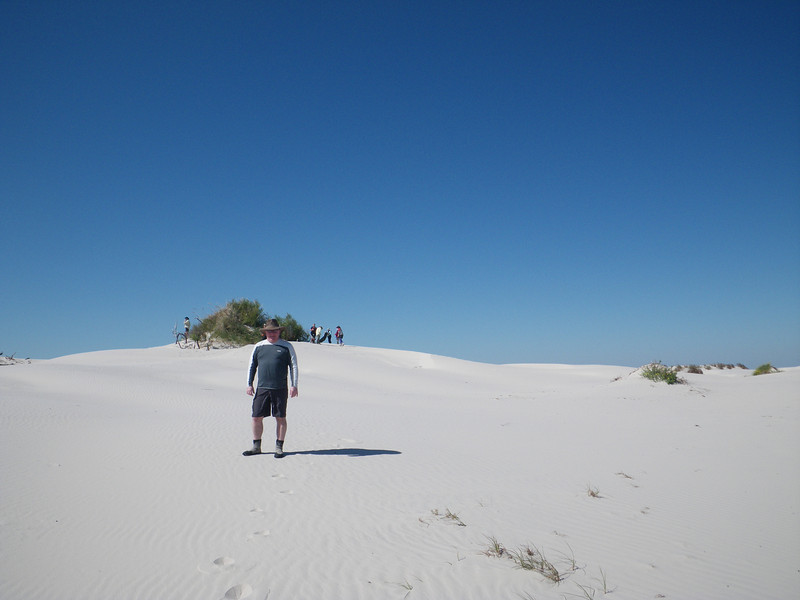 A good perspective to see the height of the dunes